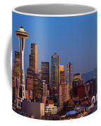 Seattle Winter Evening Panorama Coffee Mug