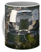 Seattle With Aerial View Of The Newly Renovated Husky Stadium Coffee Mug