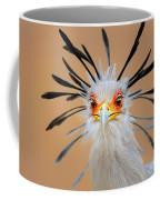 Secretary Bird Portrait Close-up Head Shot Coffee Mug