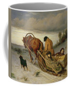 Seeing Off The Dead, 1865 Oil On Canvas Coffee Mug