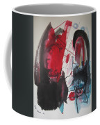 Seem To Happen Suddenly  Original Abstract Colorful Landscape Painting For Sale Red Blue Green Coffee Mug