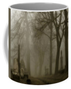 A Graveyard Seeped In Fog Coffee Mug