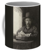 Self-portrait Etching At A Window Coffee Mug