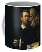 Self Portrait With Death Coffee Mug