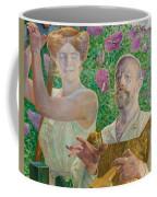 Self-portrait With Muse And Buddleia Coffee Mug