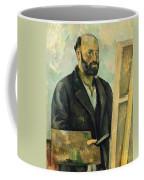 Self Portrait With Palette Coffee Mug by Paul Cezanne