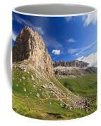Sella Mountain And Pordoi Pass Coffee Mug