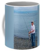 Senior Caught A Pollock In Kachemak Bay Off Homer Spit-alaska Coffee Mug