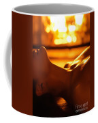 Sensual Photo Of Naked Woman In Front Of Fireplace Coffee Mug