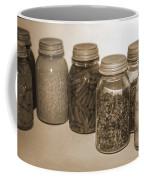 Sephia Vintage Kitchen Glass Jar Canning Coffee Mug