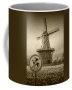 Sepia Colored No Tilting At Windmills Coffee Mug