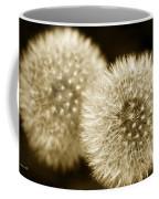 Sepia Dandelions Coffee Mug