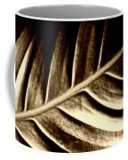 Sepia Leaf Coffee Mug