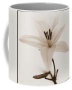 Sepia Lily In Snow Coffee Mug