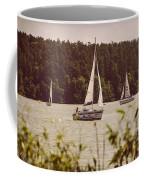 Sepia Sailing Coffee Mug