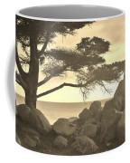 Sepia Seaview Coffee Mug