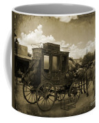 Sepia Stagecoach Coffee Mug