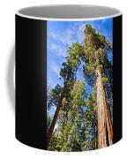 Sequoias Reaching To The Clouds In Mariposa Grove In Yosemite National Park-california Coffee Mug