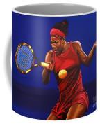 Serena Williams Painting Coffee Mug by Paul Meijering