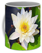 Serenity In White - Water Lily Coffee Mug