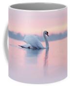 Serenity   Mute Swan At Sunset Coffee Mug