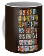 Serenity Prayer Reinhold Niebuhr Recycled Vintage American License Plate Letter Art Coffee Mug