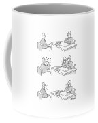 Series -- Two Men Scowl At Each Other Coffee Mug