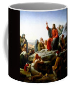 Sermon On The Mount Watercolor Coffee Mug by Carl Bloch