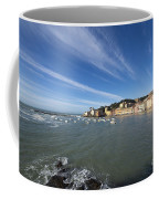 Sestri Levante With Blue Sky And Clouds Coffee Mug
