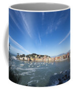 Sestri Levante With Clouds Coffee Mug