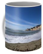 Sestri Levante With Waves Coffee Mug