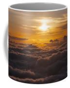 Setting Sun Above The Clouds Coffee Mug