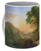 Setting Sun, Italy Oil On Canvas Coffee Mug