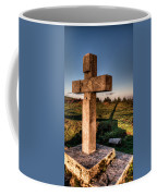 Setting Sun On A Cross By The Trenches Coffee Mug