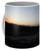 Setting Sun On The Dried Up Red River Coffee Mug
