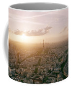 Setting Sun Over Paris Coffee Mug