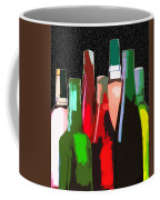 Seven Bottles Of Wine On The Wall Coffee Mug by Elaine Plesser