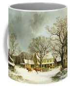 Seven Miles To Salem Coffee Mug by George Henry Durrie