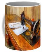 Sewing Machine With Orange Thread Coffee Mug