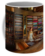 Sewing - Minding The Mending Store Coffee Mug by Mike Savad