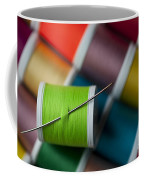 Sewing Needle With Bright Colored Spools Coffee Mug