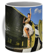 Sexy 1940s Style Pin-up Girl Standing Coffee Mug by Christian Kieffer