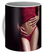 Sexy Couple Man Hands Embracing Woman Coffee Mug