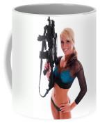 Sexy Woman Holding An Ar15 Coffee Mug