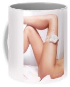 Sexy Woman Legs With Bridal Garter Coffee Mug