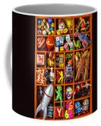 Shadow Box Full Of Toys Coffee Mug