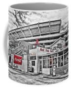 Shadow Of The Stadium Coffee Mug by Scott Pellegrin