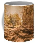Shadows On Autumn Lane Coffee Mug