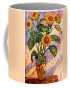 Shadows On Sunflowers Coffee Mug