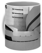Shapes Of The Guggenheim In Black And White Coffee Mug
